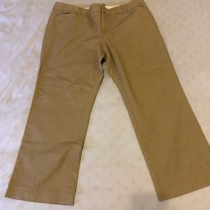 Gap stretch straight leg khaki size 16